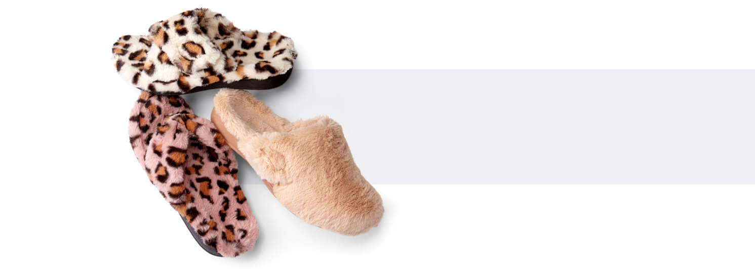 Soft just got softer with our new Vionic Plush slippers collection.