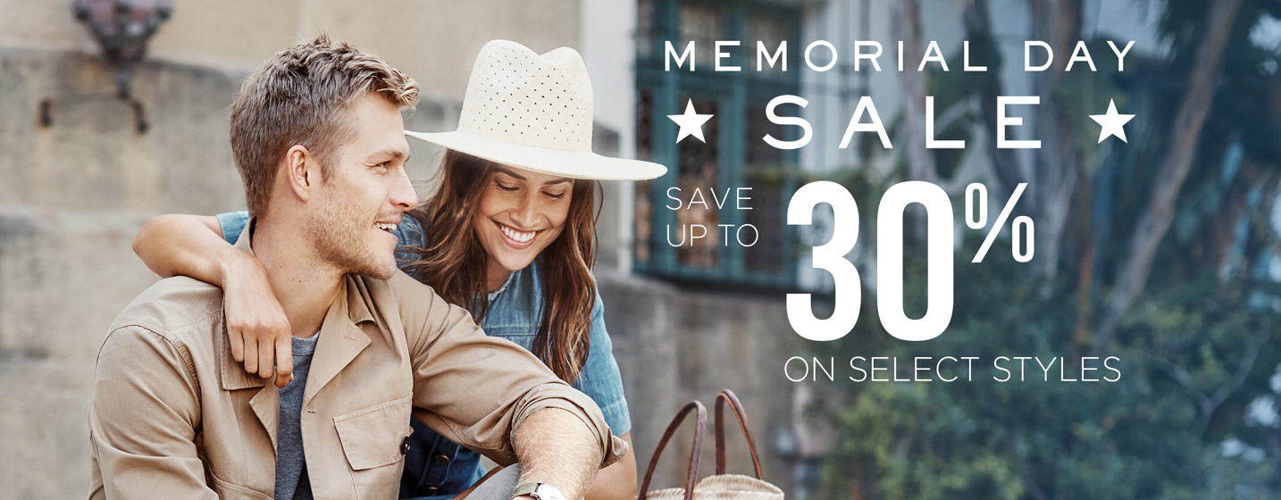 Memorial Day Sale - Save up to 30% off on select styles