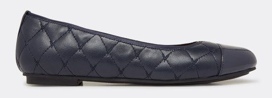 View Desiree quilted flats