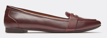 Shop Savannah Flat in Wine Leather