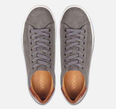 Shop Men's Baldwin Lace Up Sneaker in Charcoal Nubuck