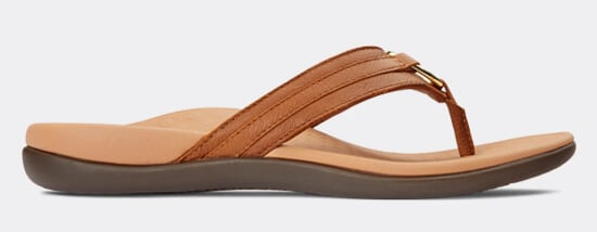 View Aloe Mocha leather sandal
