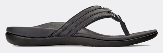 View Aloe Black leather sandal