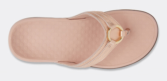 View Aloe Rose Gold leather sandal