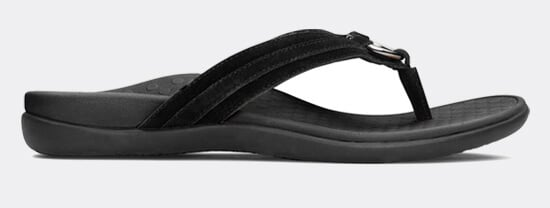 View Aloe Black suade sandal