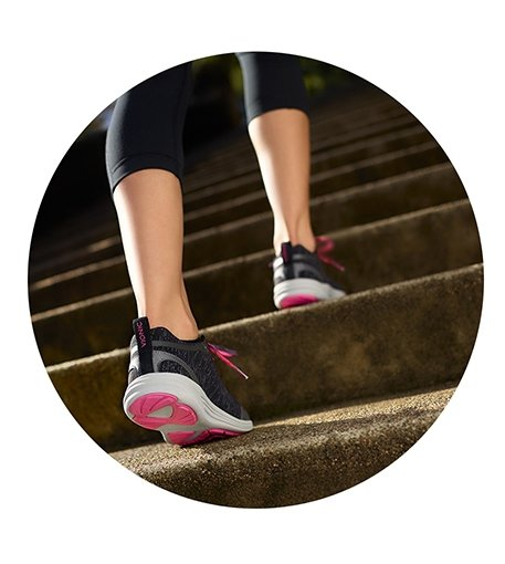 Vionic Walking Shoes on stairs