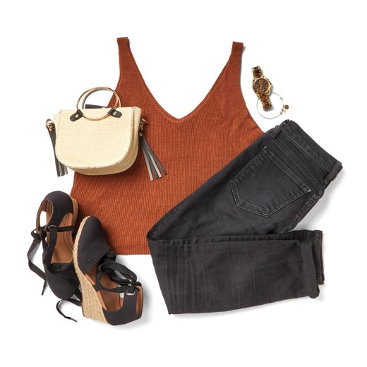 See how to style the Kaitlyn Espadrille Wedge with your favorite wardrobe staples.