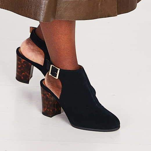 See how to style our  Lacey Heel with your favorite wardrobe staples, thanks to these tips by ELLE Magazine for Vionic.