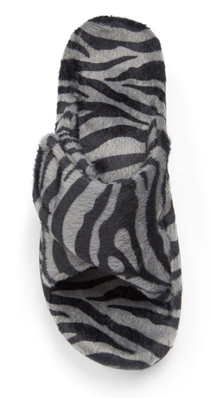 Relax Slipper in Dark Grey Zebra