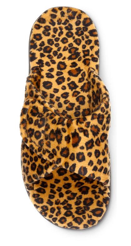 Relax Slipper in Tan Leopard