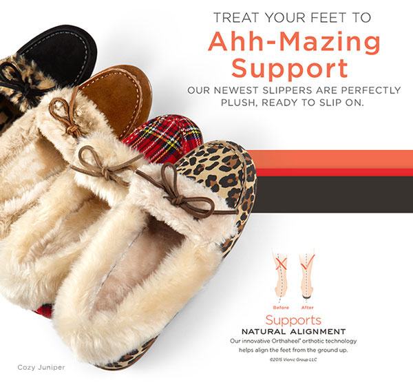 NEW Vionic slippers for ahh-mazing support